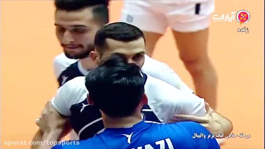درگیری در بازی والیبال پیکان تهران - شهرداری ورامین