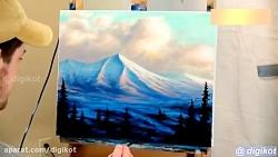 آموزش نقاشی-طبیعت کوهس...