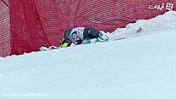 شکسته شدن پاهای ورزشکار در حین اسکی