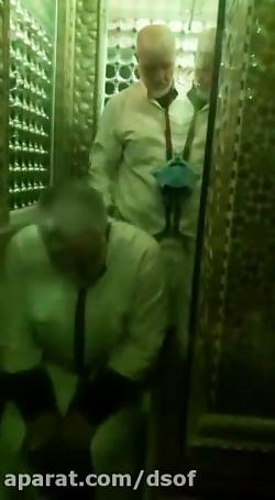 حاج قاسم سلیمانی در حرم...