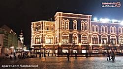 شبی زیبا در میدان سرخ مسکو