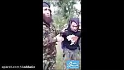 اعدام سرباز سوری توسط پدر و مادر تروریست ها در ادلب