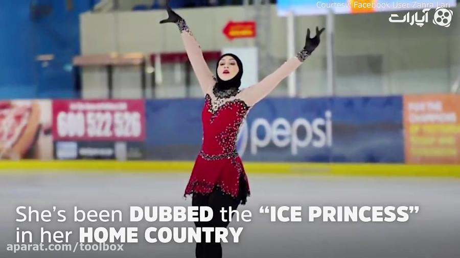 زن محجبه اسکی باز که هدفش حضور در المپیک زمستانی است