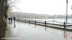 نصرانه  بارش باران زمستانی در تبریز+فیلم