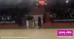 باران کوثری تماشاگر دیدار فوتسال بانوان ایران و روسیه