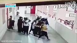 نجات دانش آموزی که سکه بلعیده بود