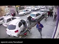 حمله با چاقو به یک راننده سر پارک خودرو