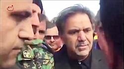 لحظه مواجهه وزیر راه با خانواده قربانیان سانحه هواپیمای