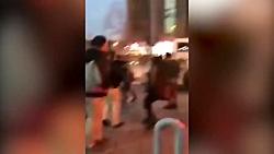 حمله با اتوبوس به مأموران پلیس در پاسداران