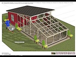 مرغدانی کوچک برای حیات و باغ 47