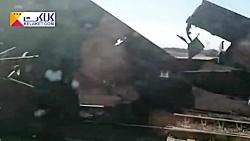 واژگونی قطار باری حامل سنگ آهن در ایستگاه دیزباد نیشابور