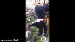 حمله یک نظامی صهیونیست ...