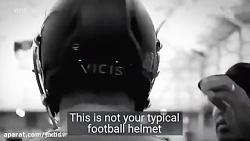 کلاه ایمنی VICIS ZERO1 ازسربازیکنان فوتبال محافظ - کلیپ
