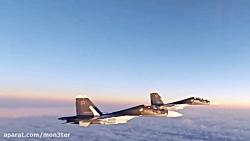 رهگیری جنگنده های سوخو 30 روسی توسط F-15 های امریکایی
