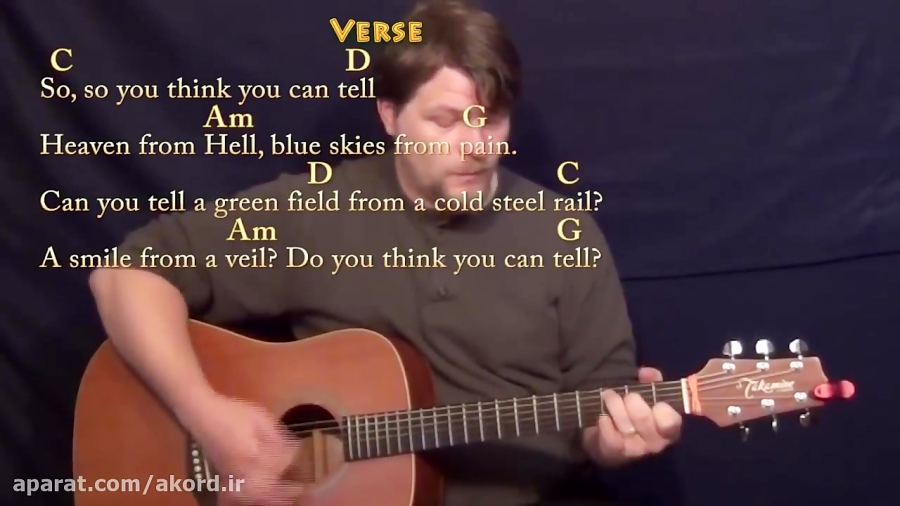 آموزش Wish You Were Here از پینک فلوید با گیتار