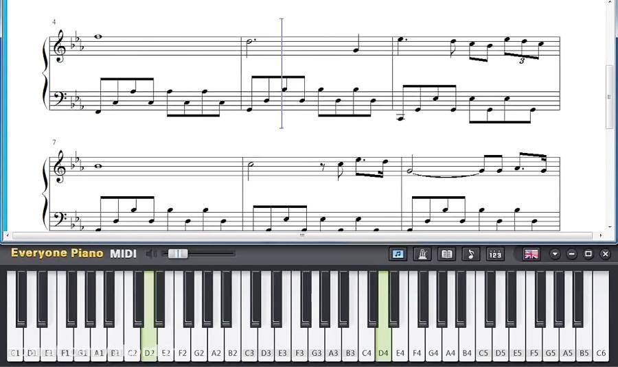 آموزش آهنگ Romeo and Juliet با پیانو
