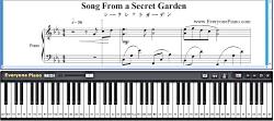 آموزش آهنگ Secret Garden با پیانو
