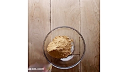 پنیر کره بادام زمینی شکلات بدون پخت