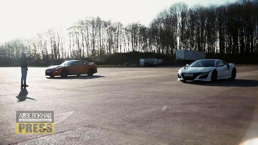درگ دیدنی نیسان GT-R با آکورا NSX
