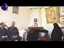 دیدار سردار فضلی با خانواه شهید محمد حسین حدادیان