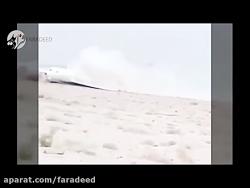لحظات ترسناک فرود بدون چرخ فوکر١٠٠ هواپیمایی آسمان