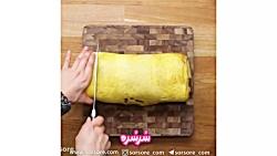 آموزش پخت رول صبحانه - www.sorsore.com