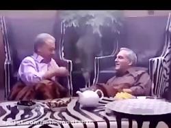 صحنه تریاک کشیدن مهران مدیری و غلام رضا نیکخواه در ویلای من