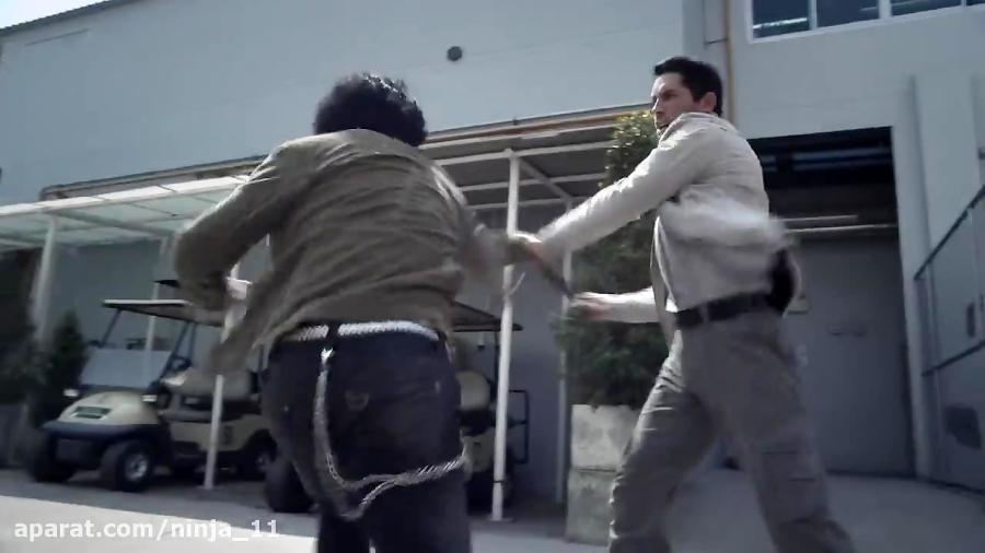 مبارزه یک به دو اسکات ادکینز در فیلم نینجا:سایه یک ترس
