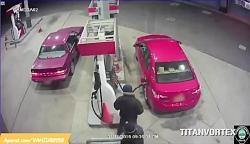 سرقت مسلحانه از یک پمپ بنزین در نیوجرسی امریکا