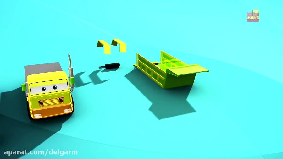 کارتون شهر ماشین ها کشتی و وسایل حمل و نقل دریایی