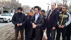 خیابان چهل ودو متری تبریز درخواست آسفالت از محرم عمی