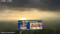 مسابقه کلیولند کاوالیرز در مقابل لس آنجلس لیکرز