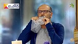 هنرنمایی دیدنی محمد بحرانی با شانه و پلاستیک!