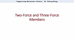 [2015] Statics 20: Two-Force and Three-For...