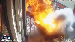 انفجار عجیب کابل برق در...