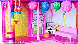 Barbie Doll Morning Routine Dress Up in Pink Bedroom! Dolls Birthday Party w  Presents by Play Toys!