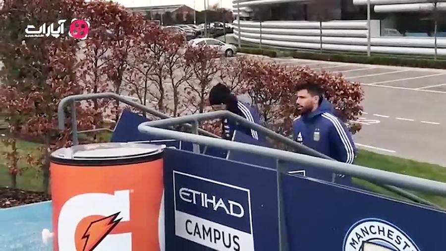 حضور مسی و آگوئرو در تمرین امروز آرژانتین