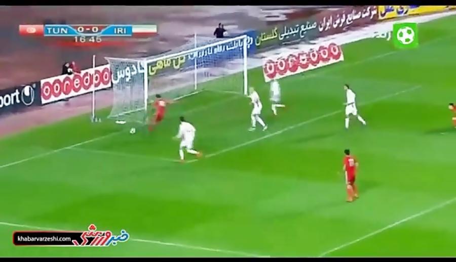 خلاصه بازی تونس 1 -0 ایران