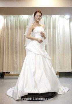 یون ایون هه در لباس عروس