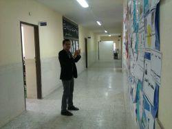 محمد رهنما در محل کارورزی ( مدرسه مصطفی خمینی اراک )