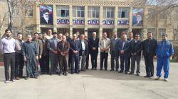 دانشگاه فرهنگیان اراک عکس یادگاری از روز تقدیر و تشکر از زحمات حراست عزیز آقای اخلاقی