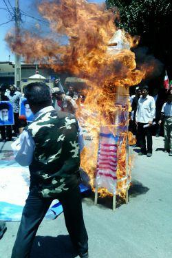 آتش زدن «آبلیسک» در روز «قدس»