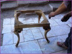 میز ورق طلا : رنگ آمیزی و ساخت کارگاه فن و هنر ایران زمین