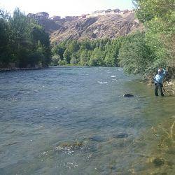 رودخانه زاینده رود اطراف پل زمانخان