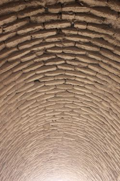 نمایی از پوشش سقف در روستای چهرفرسخ