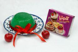 ژله سبزه عید ساخته شده با آموتیا