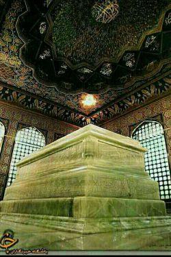 سنگ قبر آقا امام رضا (ع)