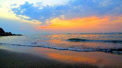 غروب.ساحل چالوس