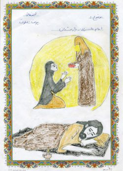 برخی از نقاشی های ایتام و فرزند نیازمندان * اکثر این نقاشی ها در همایش خیرین و خانواده های تحت پوشش توسط خیرین محترم خریداری گردیده است
