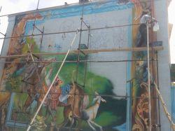 تندیس هنر -  نقاشی دیواری - استاد امیر باغانی - نقاشی ضامن آهو پخش شده از شبکه خراسان رضوی